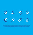modern professional advertising icons set in blue vector image vector image