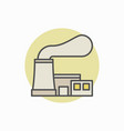 nuclear power plant colorful icon vector image