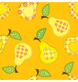 patchwork seamless pattern with stylized pears vector image vector image