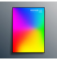 poster with colorful gradient texture design vector image