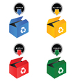 recycle box vector image vector image