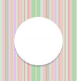 Round frame on striped seamless background vector image