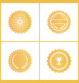 round gold certificate emblems for documents set vector image