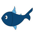 sad fish on white background vector image vector image