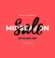 sale banner template midseason sale pink vector image vector image