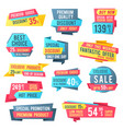 sale banners and price tag labels selling card vector image vector image