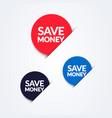 save money button set vector image