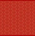 seamless red wave dragon fish scales pattern vector image vector image