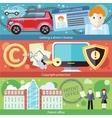 Set Concept Driver License Patent Copyright vector image