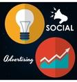 Social Advertising and Digital Marketing design vector image vector image