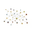 social network flat isolated on white vector image vector image