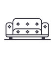 sofa line icon sign on vector image vector image