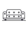 Sofa line icon sign on