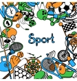Sport Sketch Frame vector image vector image