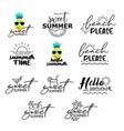 summer labels set retro hand drawn elements vector image vector image