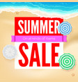 summer sale selling ad banner text design with vector image vector image