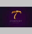 t gold golden alphabet letter logo icon design