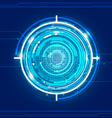 Technology Blue Background vector image vector image