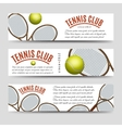 Tennis club banner collection