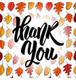 thank you hand drawn positive quote vector image vector image