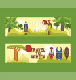 travel to africa set banners vector image