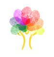 Tree Made Of Fingerprints vector image vector image
