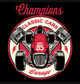 vintage shirt design retro old racing formula vector image vector image
