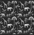 watercolor seamless patterns with safari vector image
