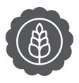 wheat bage glyph icon drink and brewery craft vector image vector image