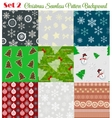 Winter Christmas New Year Seamless Pattern Set vector image vector image