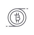 bitcoins technology linear icon sign symbol vector image