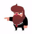 the bearded diractor points with his finger vector image