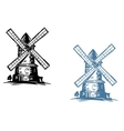 Windmill building vector image