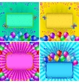 Holiday backgrounds with balloons set vector image
