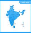 map of india and sri lanka vector image