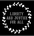 4th july hand sketched liberty and justice vector image vector image