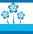 a card with blue flowers vector image vector image