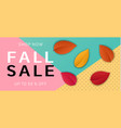 autumn fall sale concept background realistic vector image vector image