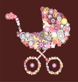 Baby carriage vector image vector image