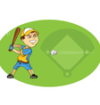 baseball player swinging vector image vector image