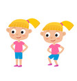 blonde girl in exercise vector image