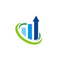 business finance arrow logo vector image vector image