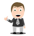 business man with thumb up vector image vector image