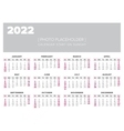 Calendar 2022 year design template vector image