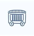 Circus wagon sketch icon vector image vector image
