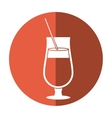 cocktail popular alcohol drink straw and shadow vector image