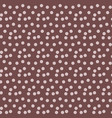 coffee brown background random scattered circle vector image vector image