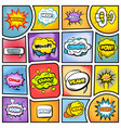 colorful comic book background vector image vector image