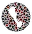 coronavirus stencils circle boracay island map vector image vector image