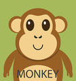 Cute brown monkey cartoon flat icon avatar vector image vector image